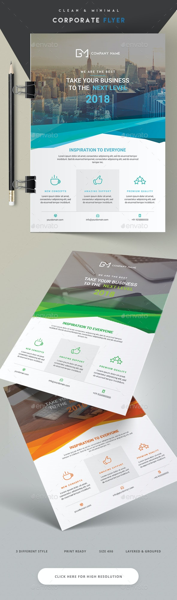 Clean and Minimal Corporate Flyer - Corporate Flyers