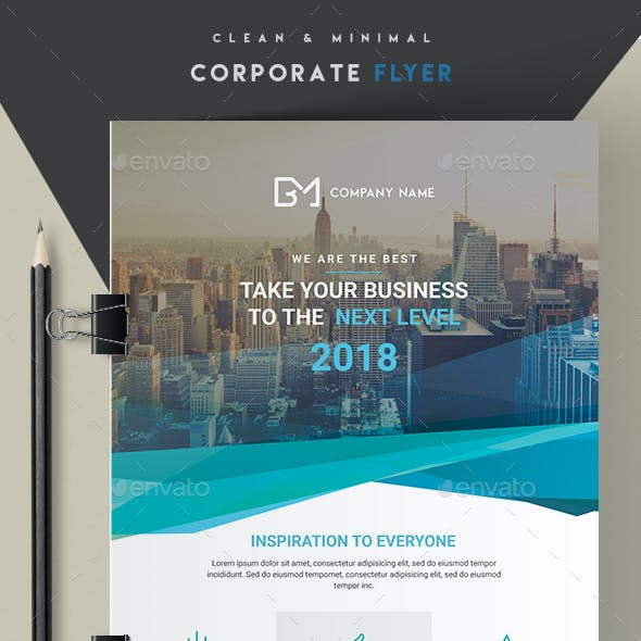 Clean and Minimal Corporate Flyer