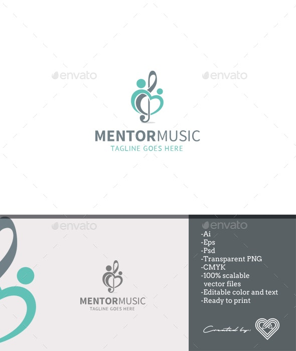 Mentor Music - Symbols Logo Templates
