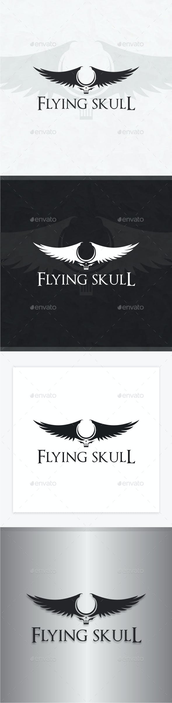 Flying Skull Logo