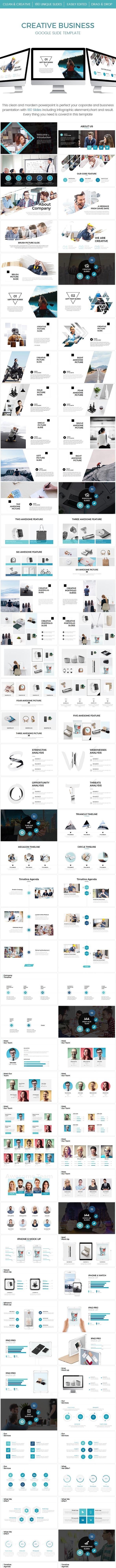 Creative Business Google Slide Template - Google Slides Presentation Templates