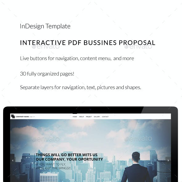 Interactive PDF Business Proposal No1
