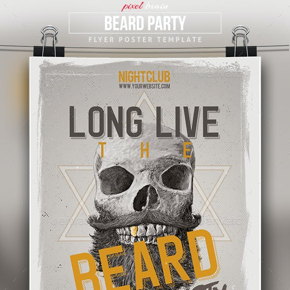 Beard Night Party Flyer Template
