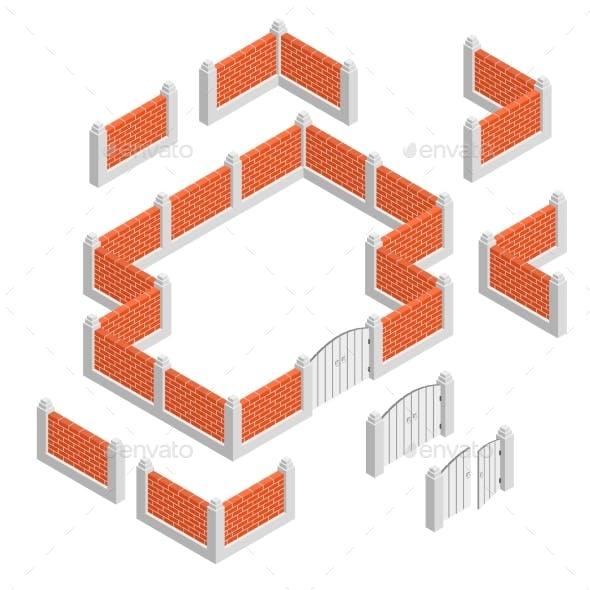 Fences Isometric Design Concept
