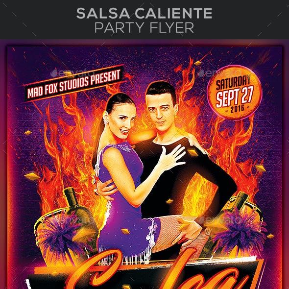 Salsa Caliente Party Flyer
