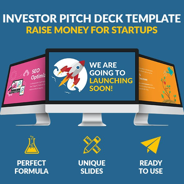 Powerpoint Flat Pitch Deck - Raise Money For Startups