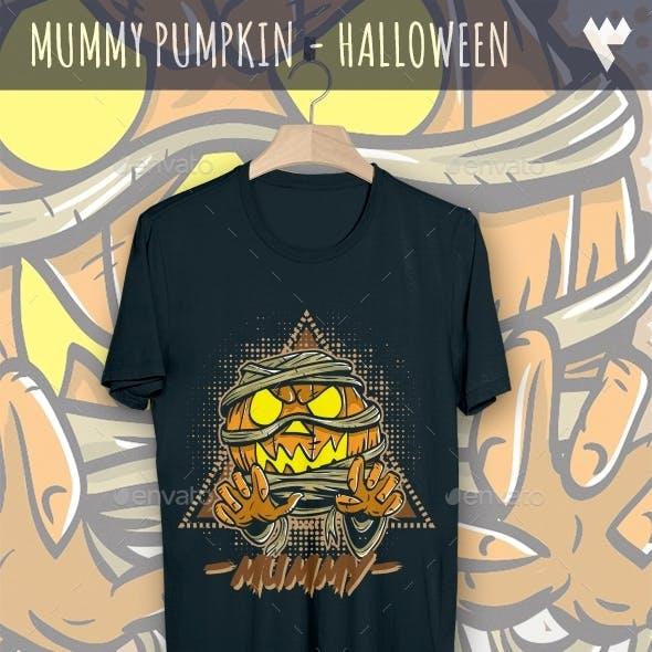 Mummy Pumpkin - Halloween T-Shirt