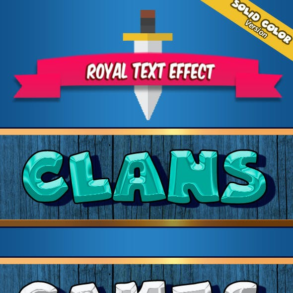 Royal Text Effect Solid Version