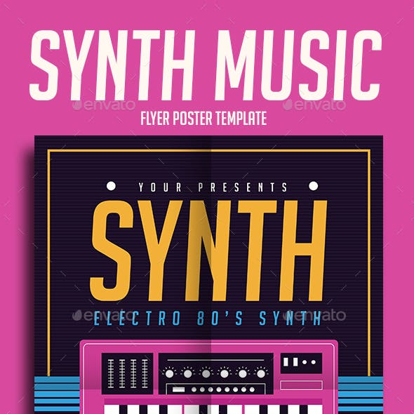 Synth Music Flyer