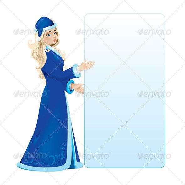 Snow maiden - Characters Vectors