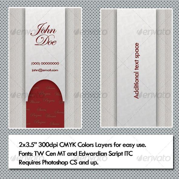 Fancy Ribbon Business Card