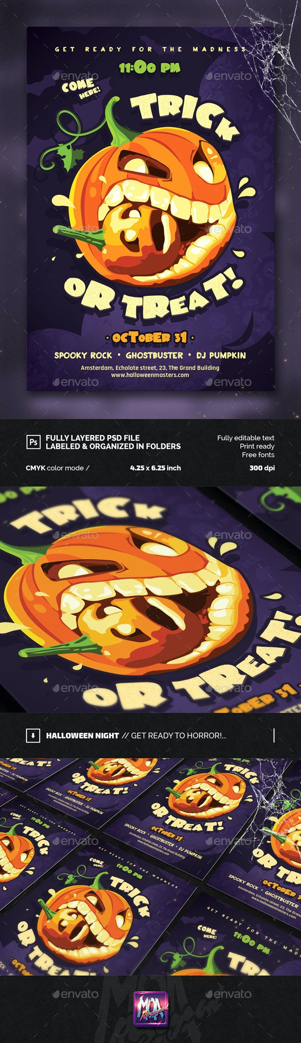 Trick or Treat, Halloween Flyer - Events Flyers