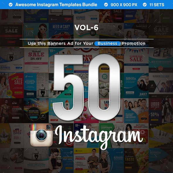 Instagram Template Banners - 50 Designs