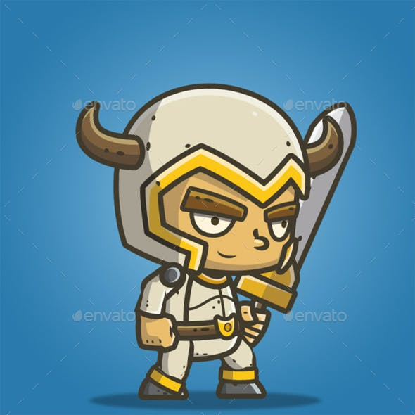 Chibi Knight - White Bull