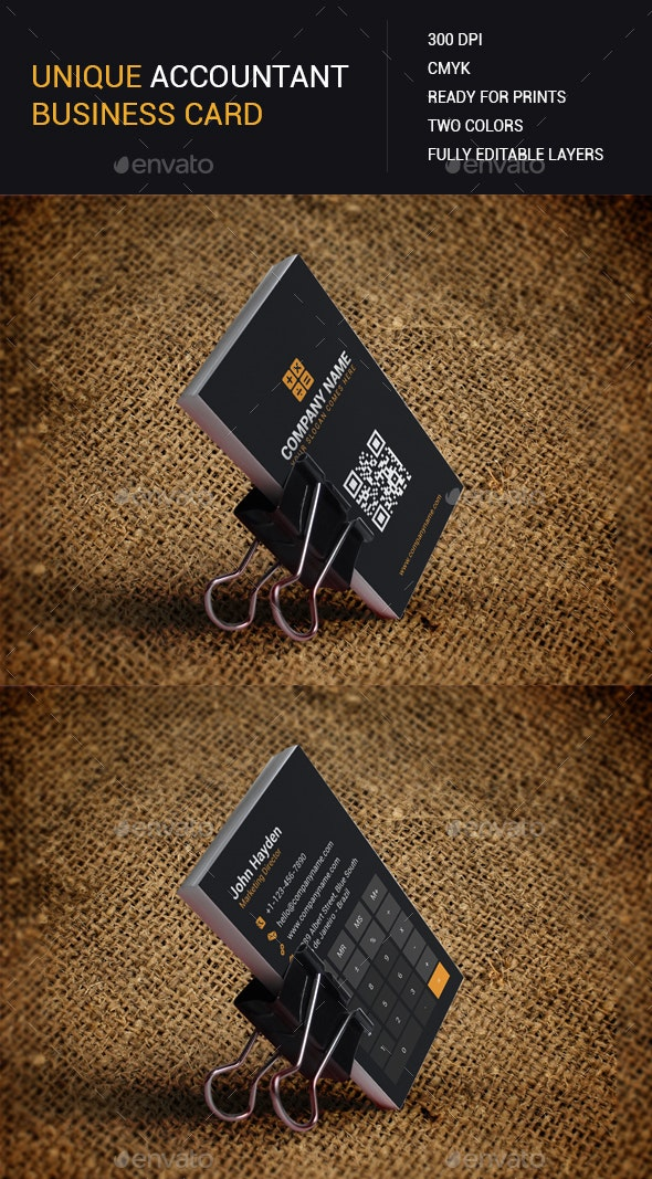 Accountant Business Card - Business Cards Print Templates