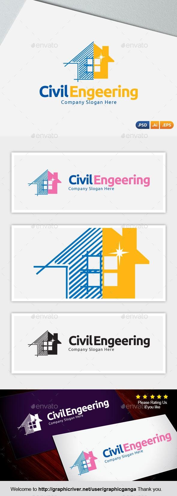 Real Estate Bulder (Civil Engeering) - Abstract Logo Templates