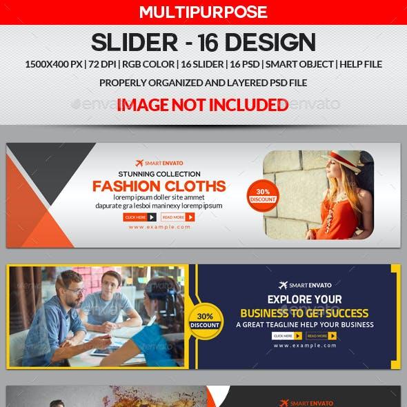 Slider Bundle - 16 Design