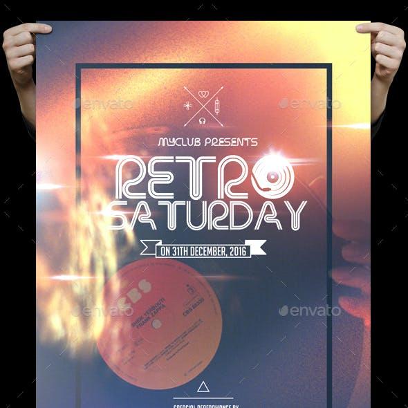 Retro Saturday Flyer