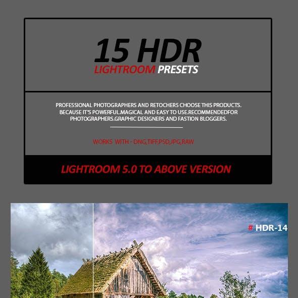 15 HDR Lightroom Presets