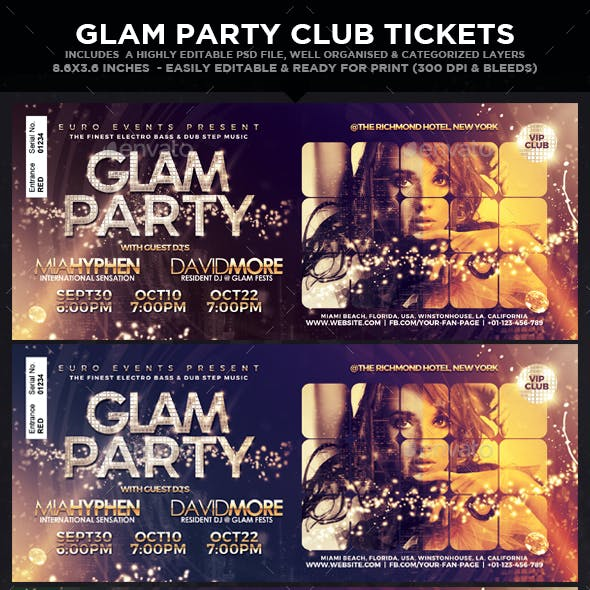 Glam Party & Club Event Tickets & Passes