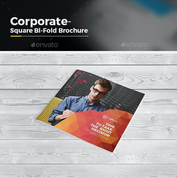 Abstract Square Bi Fold Brochure