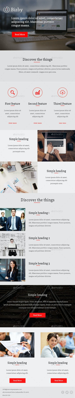 Bizzby - E-newsletters Web Elements