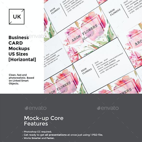 UK Business Cards Mockups Set
