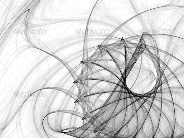 Ink spirals and spines - Abstract Backgrounds