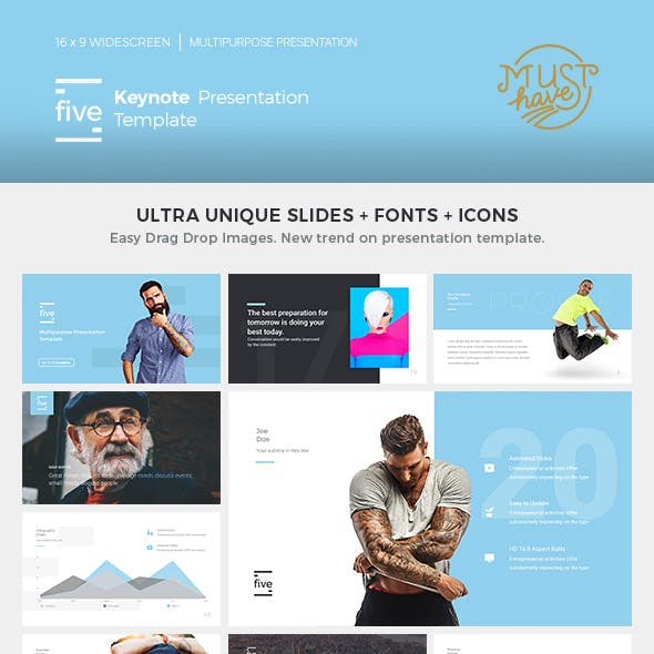 Five - Keynote Presentation Template