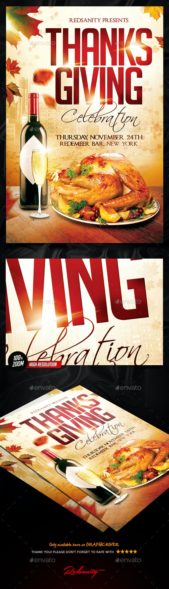 Thanksgiving Celebration Flyer - Holidays Events