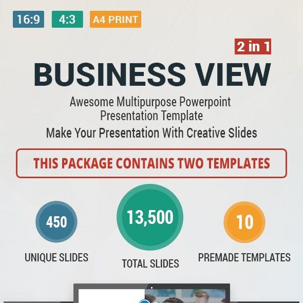 Business view PowerPoint Presentation Bundle