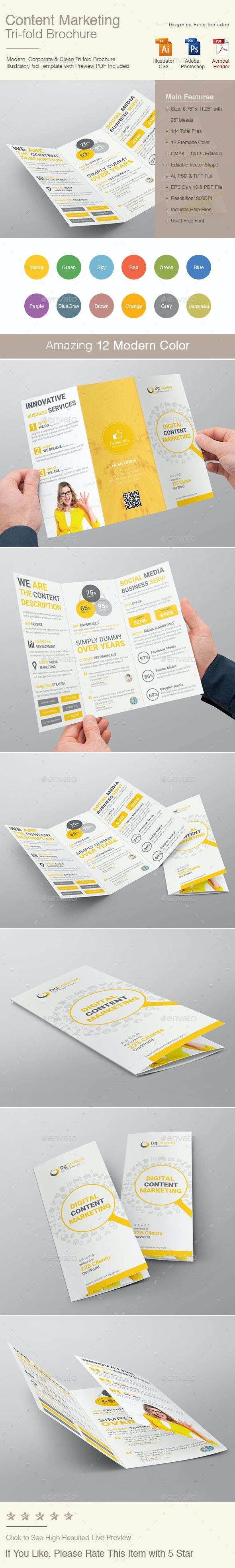 Content Marketing Tri-fold Brochure - Corporate Brochures