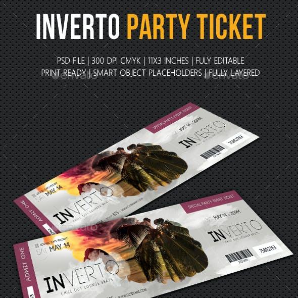 Inverto Party Event Ticket