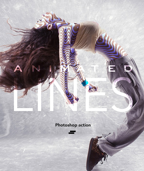 Gif Animated Lines Photoshop Action - Photo Effects Actions