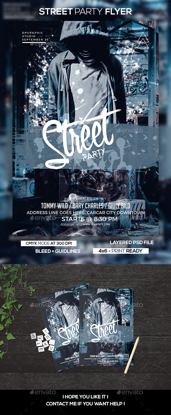 Street Party Flyer - Clubs & Parties Events