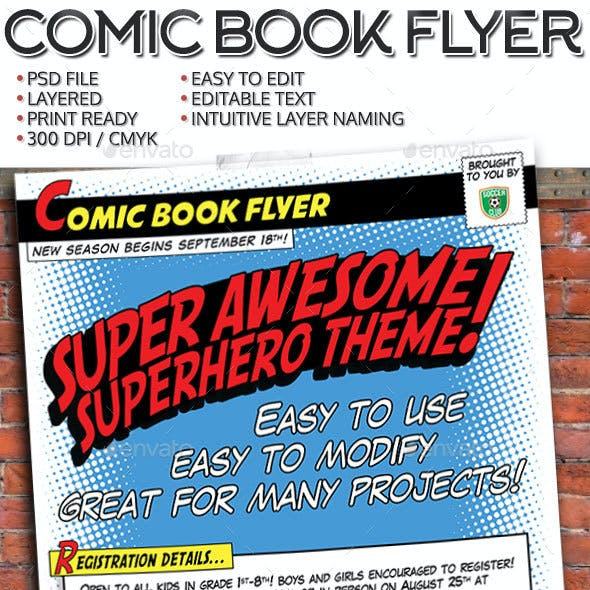Comic Book Flyer