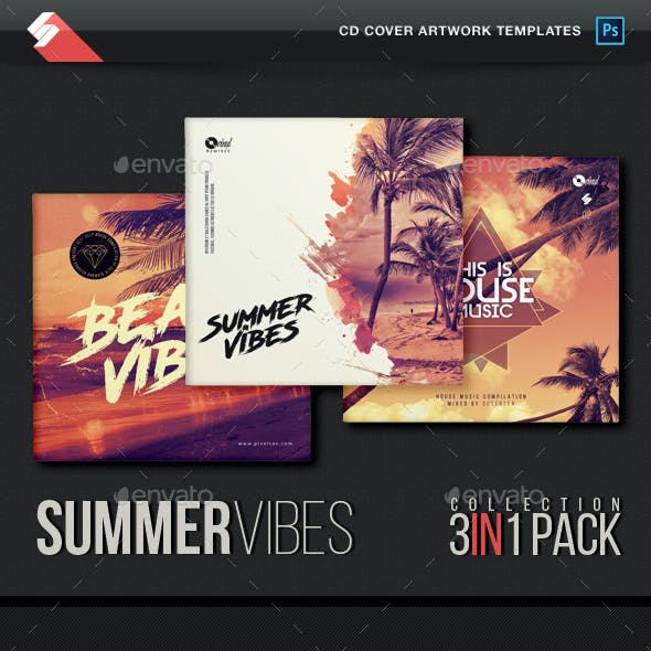 Summer Vibes - House Music CD Cover Templates Bundle