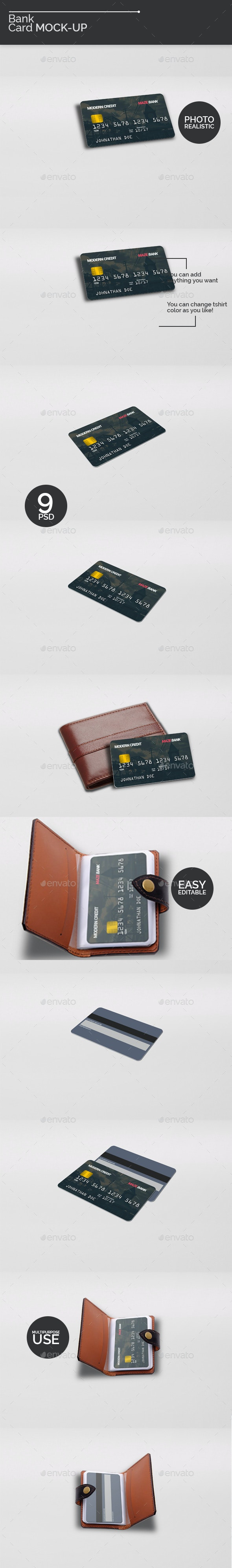 Bank Card Mock-Ups - Miscellaneous Print