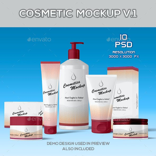 Skin Care and Beauty Products Mockup V.1