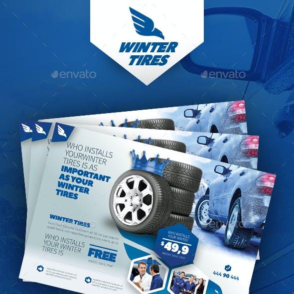 Automobile Tire Flyer Templates
