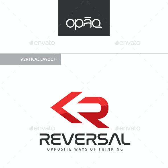 Reversal (R Letter) Logo