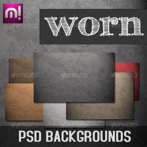 WORN PSD Background Pack - Backgrounds Graphics