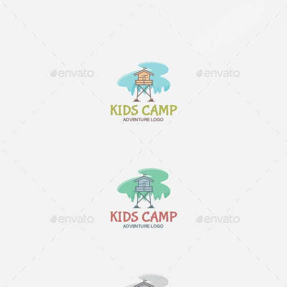 Kids Camp Logo Template
