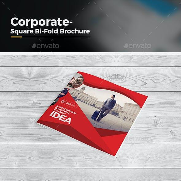 Multipurpose Square Bi Fold Brochure