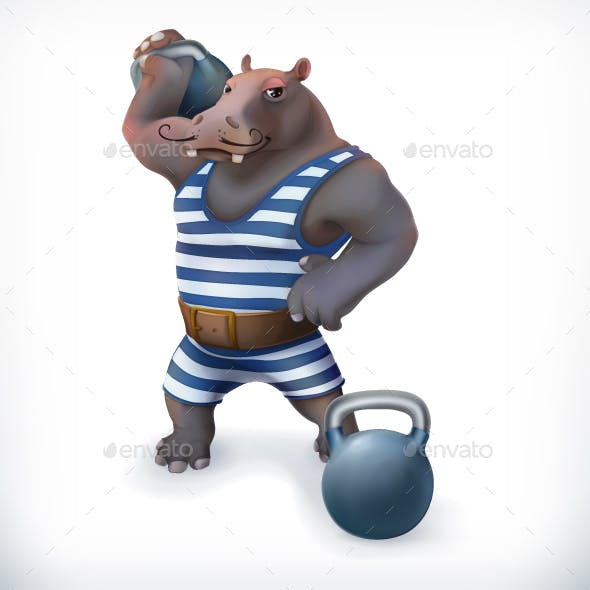 Hippo Circus Athlete