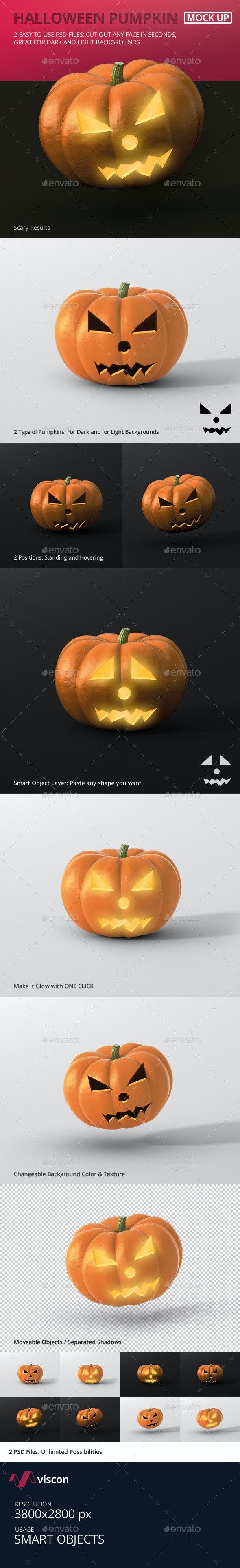 Halloween Pumpkin Mockup - Food and Drink Packaging