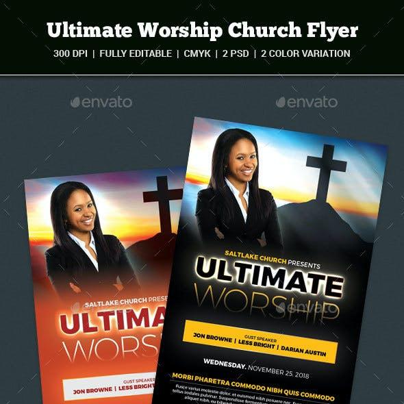 Worship Church Flyer