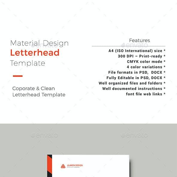 Material Corporate Graphics, Designs & Templates
