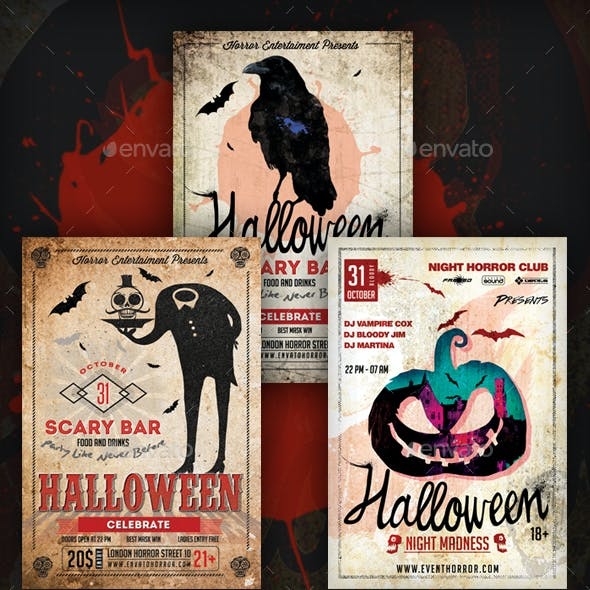 Halloween Flyers Bundle by k-project | GraphicRiver