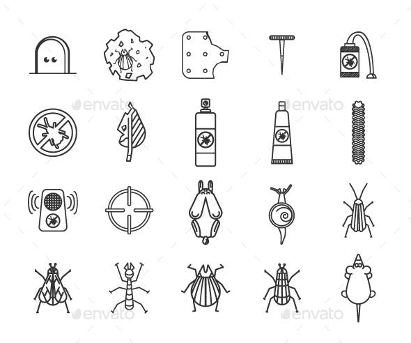 Outline Pest  Icons